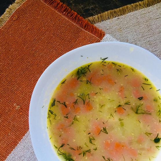 простой суп, зимний суп